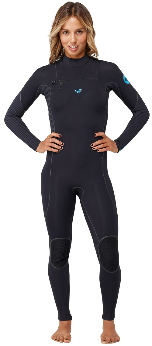 Roxy Woman's Ignite 4/3mm Full Chest Zip Wetsuit Welded Seams -