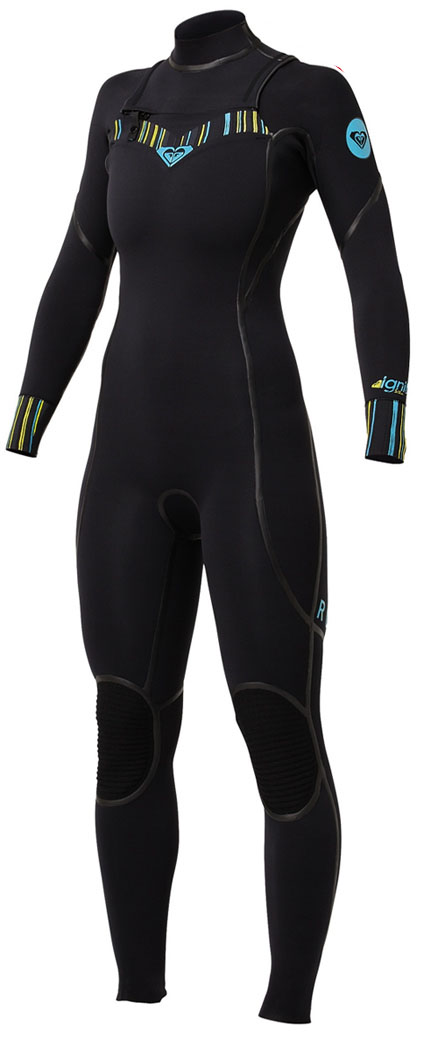 Roxy Woman's Ignite 4/3mm Full Chest Zip Wetsuit - New! - IH409WL-BBL