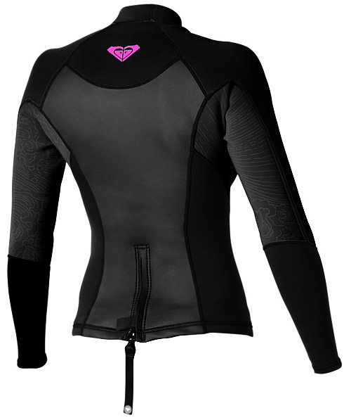 Roxy SYNCRO 1.5MM LONG SLEEVE JACKET Black - SA149WF-BKP