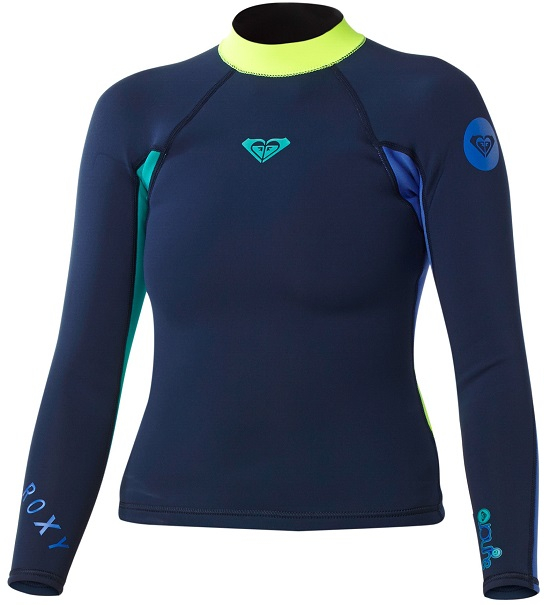 Roxy Syncro 1.5mm Long Sleeve Women's Neoprene Jacket - Blue/Yellow