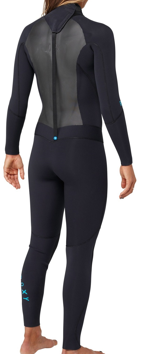 Roxy Syncro 4/3mm Wetsuit Women's Back Zip GBS - Black - ARJW100003-KVD0