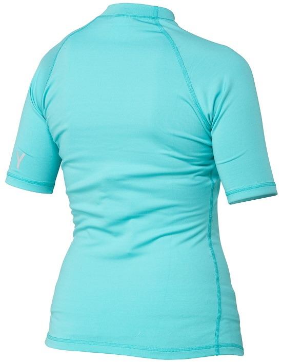 Roxy Women's Rash Guard Short Sleeve Whole Hearted - Turquoise - ARJWR00023-BJR0