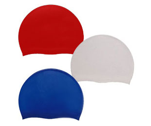 Aqua Sphere Silicon Swim Cap Blue, Black, Red, White - 230805