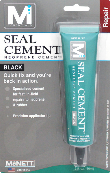 Seal Cement 2 oz Black Neoprene Cement by M Essentials