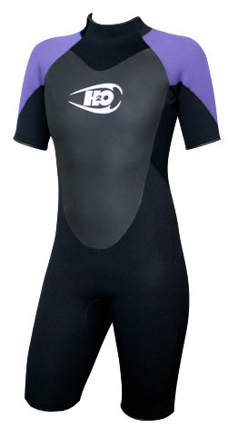 Womens 3/2mm Shorty Wetsuit Springsuit -