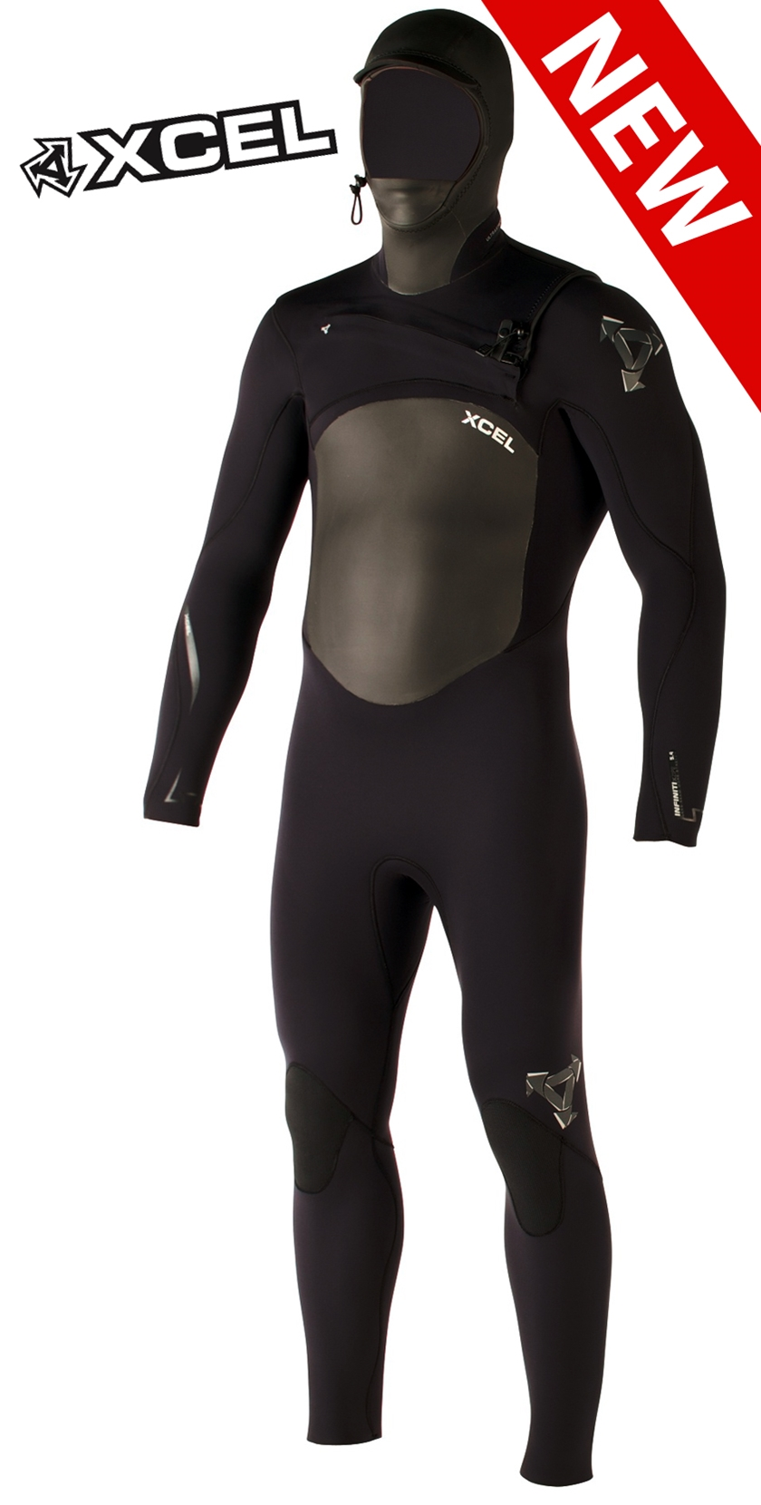 Xcel Infiniti X-Zip 5/4/3mm Men's Wetsuit - MB54ZH12-BLK