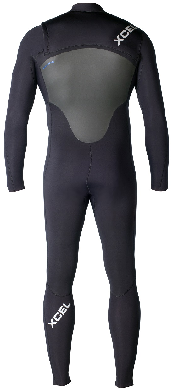 XCEL Men's Axis X2 Wetsuit 4/3mm Chest Zip - Black - MQ43Z2X4-BLX
