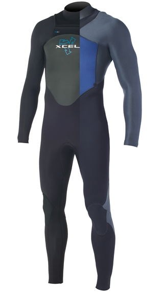 Xcel Men's Drylock 4/3mm Wetsuit Chest Zip - MQ43DRP3-BBX