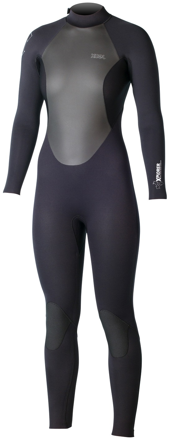 XCEL Xplorer Women's Wetsuit OS 4/3mm Back Zip Cold Water Wetsuit - Black