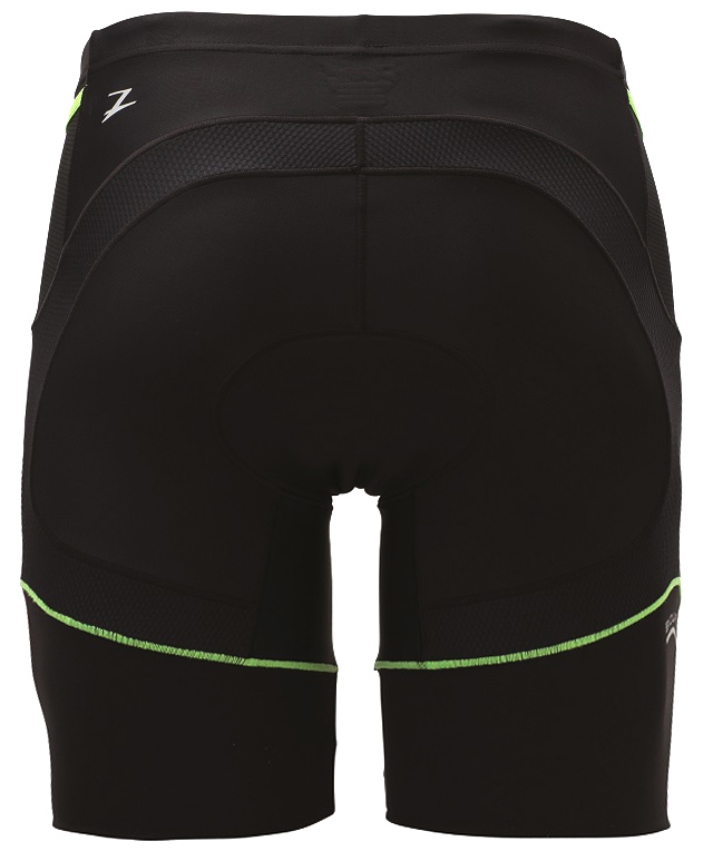 "Zoot Men's Performance 8"" Tri Short - Black/Green Flash - Z130602914"