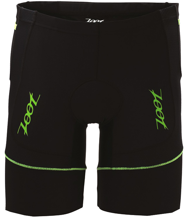 "Zoot Men's Performance 8"" Tri Short - Black/Green Flash"