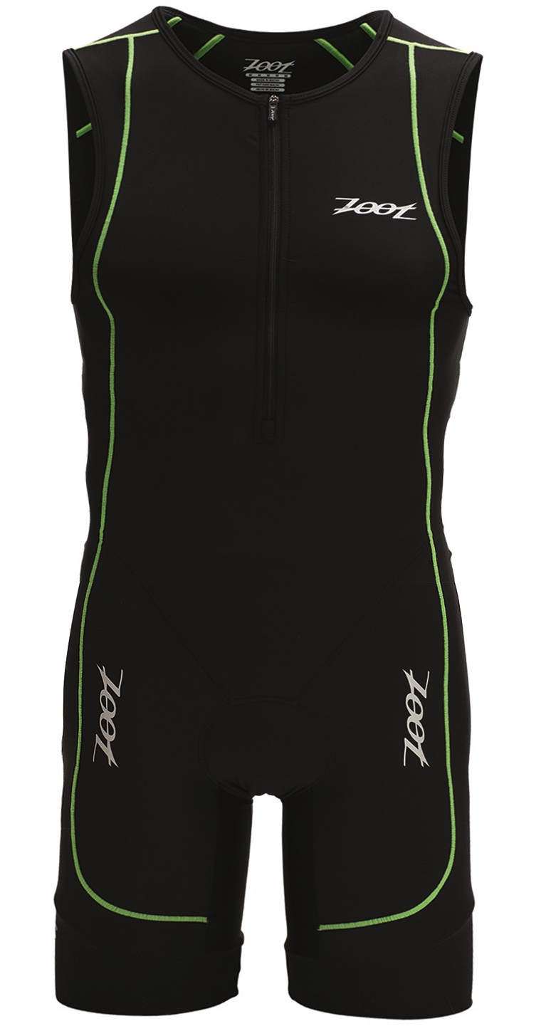 Zoot Men's Performance Tri Racesuit - Triathlon Black/Flash Green - Z1406024