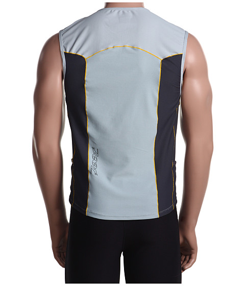 Zoot Men's TRIfit Mesh Triathlon Shirt Pebble - zs9mtt53PEB