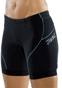 Zoot Tri Fit Triathlon Shorts 6 inch - Black/Spa -