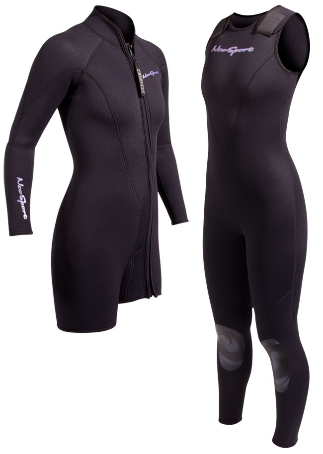 NeoSport 3mm Women's 2 Piece Wetsuit Combo Jane and Jacket - Premium Neoprene