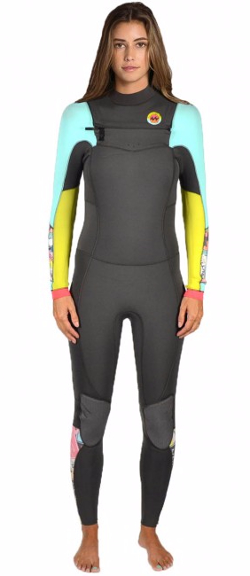 958aa53c26 Billabong 403 Salty Dayz Women s 4 3mm Full Chest Zip Wetsuit Surf ...