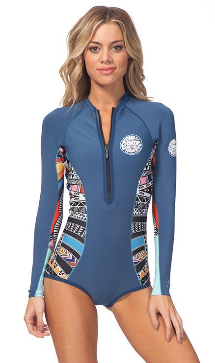 9dee2415fda6 Rip Curl G-Bomb Springsuit Hi Cut Wetsuit 1mm Long Sleeve - Blue