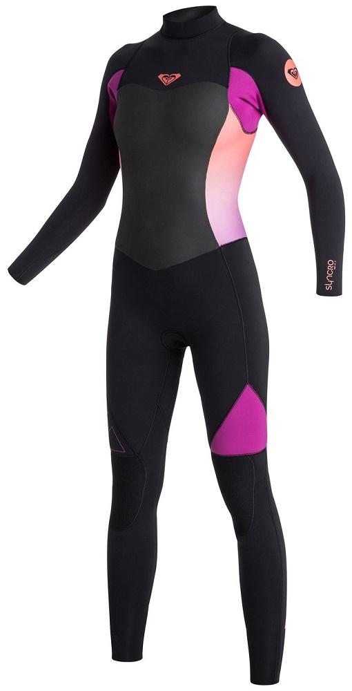 ecbf907ada Roxy Syncro 4 3mm Women s Back Zip GBS Wetsuit -Black Violet  ARJW103039-XKMN
