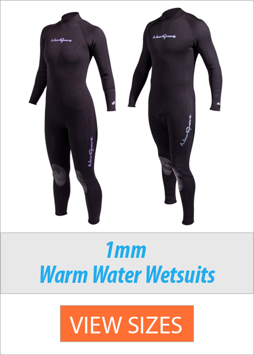 Men's & Women's 1mm Wetsuits for Warm Water