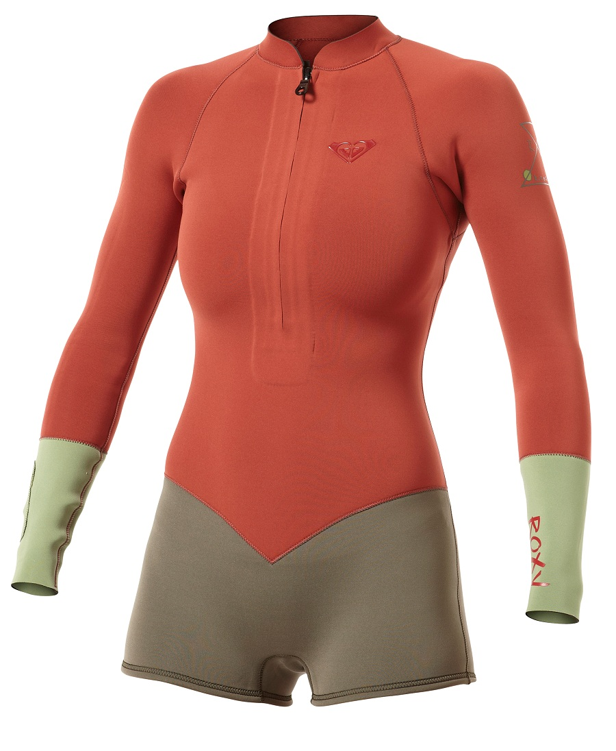 Roxy Springsuit Wetsuit 2mm Shorty Longsleeve Kassia Meador - Red New Spring  Color b75fd1e92