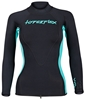 1.5mm Women's Hyperflex VYRL Long Sleeve Top - Black/Teal