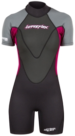 2.5mm Women's Hyperflex ACCESS Back Zip Springsuit  - Black/Berry