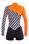 2mm Women's GlideSoul Vibrant Stripes Front Zip Springsuit - Black/Orange - 420SS01560-25
