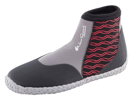 3mm NeoSport Mens Low Top Boots - Red -