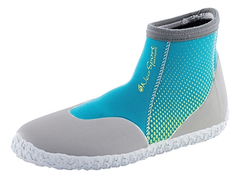3mm NeoSport Womens Low Top Boots - Bright Blue -