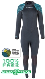7mm Women's Henderson Greenprene Wetsuit - ECO Friendly - Back Zip