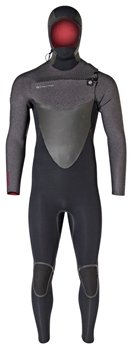 6/5mm Hyperflex Vyrl CRYO Mens Hooded Wetsuit - Chest Zip