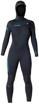 5/4mm Womens  Hyperflex VYRL Wetsuit - Hooded Chest Zip