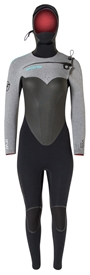 6/5mm Women's Hyperflex VYRL CRYO Hooded Wetsuit - Chest Zip