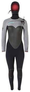 6/5mm Womens Hyperflex VYRL CRYO Hooded Wetsuit - Chest Zip