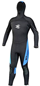 7mm Men's H2Odyssey Coronado Chest Zip Semi-Dry Hooded Wetsuit /Fullsuit