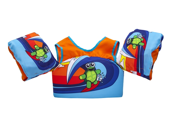 Body Glove Paddle Pals Child's Swim Life Vest - Surfing Turtle