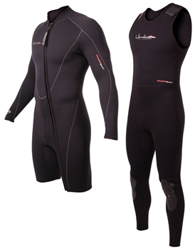 7mm Mens Henderson Thermoprene 2-Piece Wetsuit Combo - Front Zip -