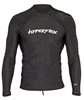 Hyperflex Men's Rashguard Sport Fit Long Sleeve 50+ UV Protection - Black