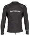 Hyperflex Men's Rashguard Sport Fit Long Sleeve 50+ UV Protection - Black - X115MN-01