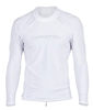 Hyperflex Men's Rashguard Sport Fit Long Sleeve 50+ UV Protection - White