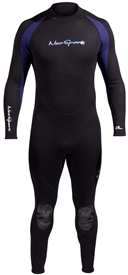 5mm Men's NeoSport Wetsuit - Premium Neoprene - Black/Blue