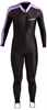 NeoSport Women's Lycra Sports Skin Skinsuit- Black/Pink -