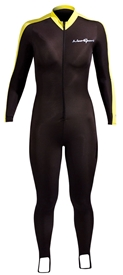 NeoSport Unisex Lycra Sports Skin Skinsuit Men's / Women's - Black/Yellow