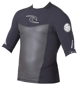 Rip Curl Dawn Patrol Mens Short Sleeve Neoprene Jacket - Black -