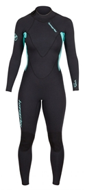 3/2mm Women's Hyperflex VYRL Back Zip Flatlock Wetsuit / Fullsuit