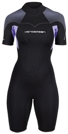 3mm Women's Thermoprene Pro Back Zip Springsuit Shorty - PLUS SIZES