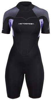 3mm Womens Thermoprene Pro Back Zip Springsuit Shorty - PLUS SIZES