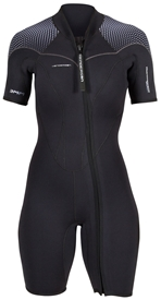3mm Women's Henderson Thermoprene Pro Wetsuit  Springsuit  - Front Zip - PLUS SIZES