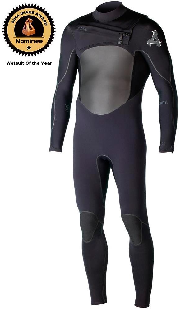 2mm Men/'s XCEL DRYLOCK L//S Wetsuit Jacket