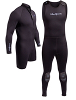 NeoSport 7mm 2 Piece Wetsuit Combo Men's Step In Scuba Diving - Premium Neoprene